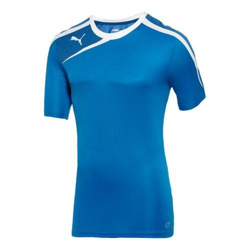 Mens Puma Spirit Shirt Short Sleeve Technical Tops - Royal/Delft Blue L