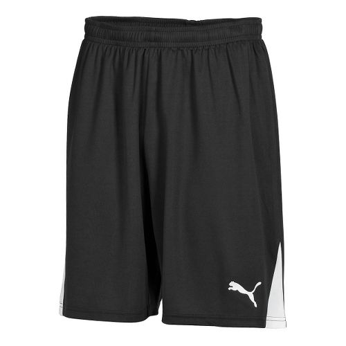 Mens Puma Team Unlined Shorts - Black/White L