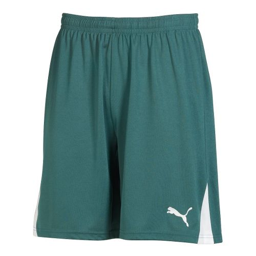 Mens Puma Team Unlined Shorts - New USA Forest/White L