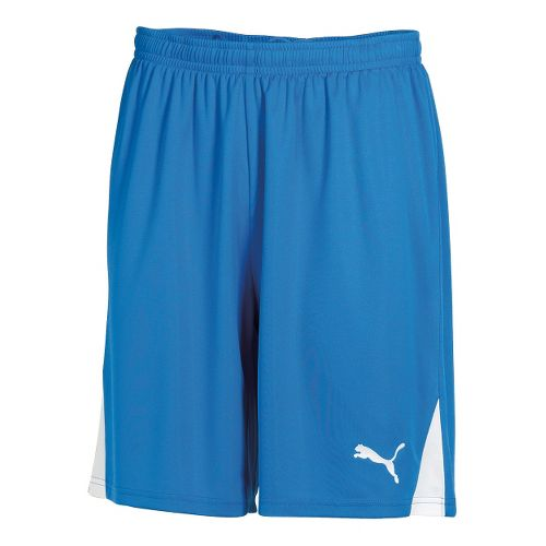 Mens Puma Team Unlined Shorts - Royal/White L