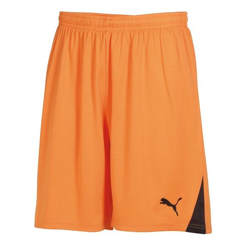 Mens Puma Team Unlined Shorts - Team Orange/White L