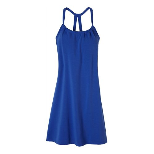 Womens Prana Quinn Dress Skirt Fitness Skirts - Blue JayBlue Jay M