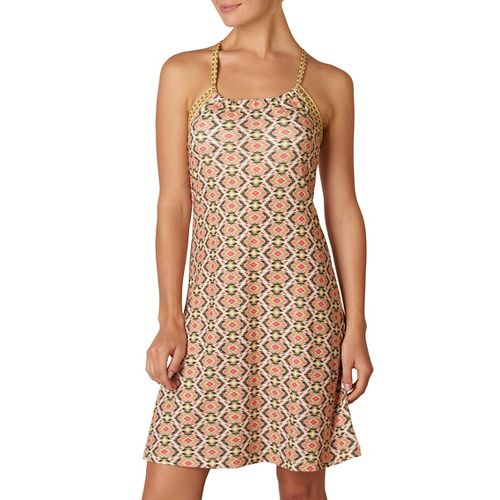 Womens Prana Quinn Skirt Dresses - Safari Guava XL