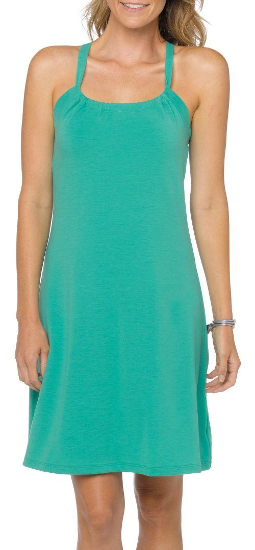 Womens Prana Quinn Skirt Dresses - Cool Green L
