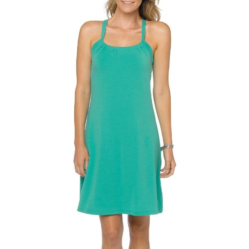 Womens Prana Quinn Skirt Dresses - Cool Green S
