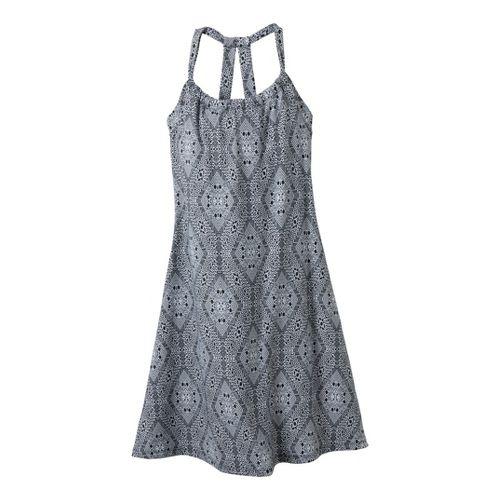Womens Prana Quinn Dress Skirt Fitness Skirts - Coal/Print L