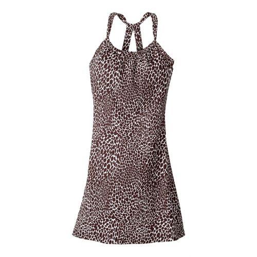 Womens Prana Quinn Dress Skirt Fitness Skirts - Espresso/Print L