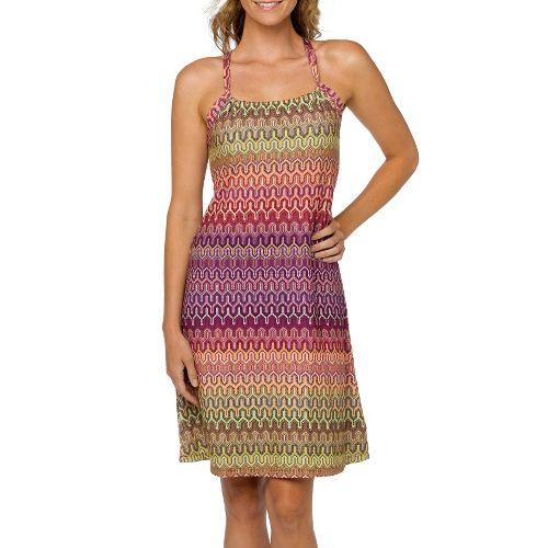Womens Prana Quinn Dress Skirt Fitness Skirts - Fuschia S