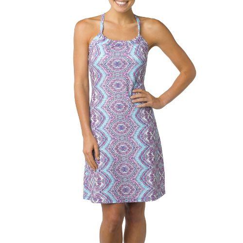 Womens Prana Quinn Dress Skirt Fitness Skirts - Zen Blue/Print L