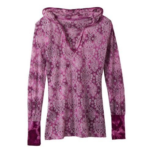 Womens Prana Julz Hoodie Top Long Sleeve Non-Technical Tops - Amythest S