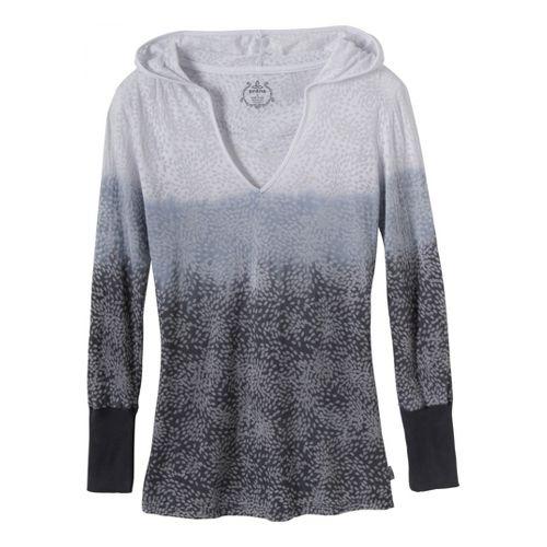 Womens Prana Julz Hoodie Top Long Sleeve Non-Technical Tops - Coal XL