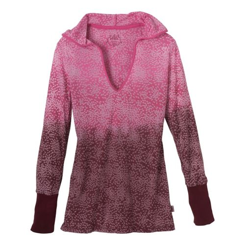 Womens Prana Julz Hoodie Top Long Sleeve Non-Technical Tops - Pomegranate XL