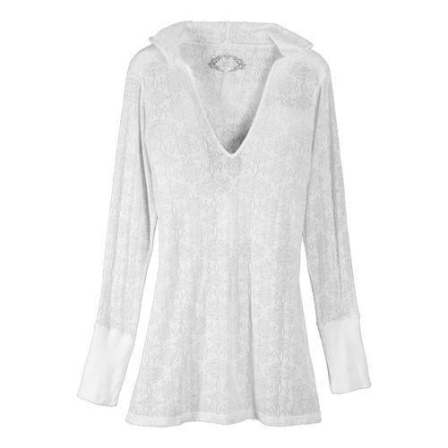 Womens Prana Julz Hoodie Top Long Sleeve Non-Technical Tops - White XL