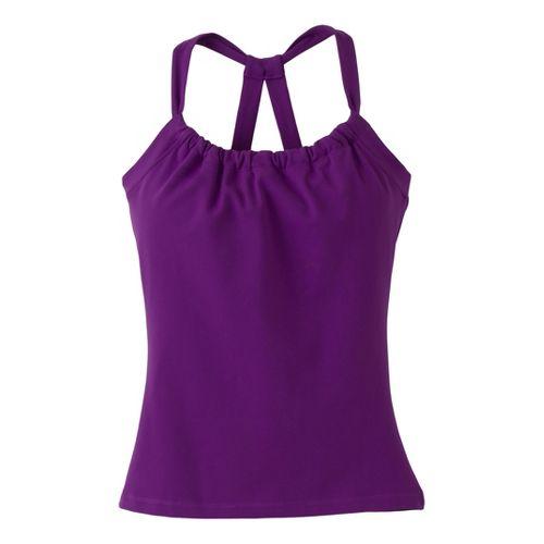 Womens Prana Quinn Chakara Sport Top Bras - Amethyst XL