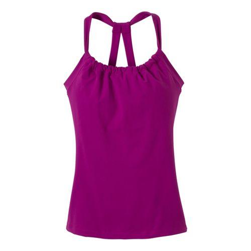 Womens Prana Quinn Chakara Sport Top Bras - Berry XS