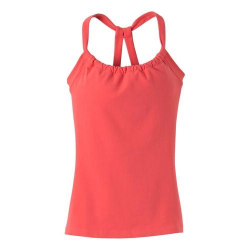 Womens Prana Quinn Chakara Sport Top Bras - Coral L