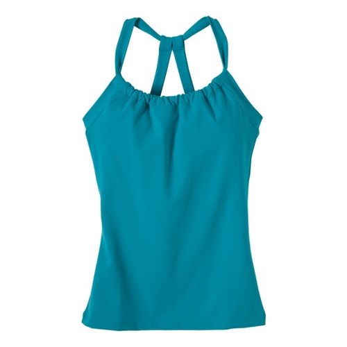 Womens Prana Quinn Chakara Sport Top Bras - Capri Blue L