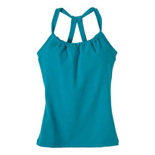 Womens Prana Quinn Chakara Sport Top Bras - Capri Blue XS
