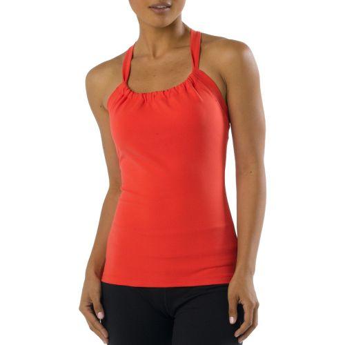 Womens Prana Quinn Chakara Sport Top Bras - Fire Red XS
