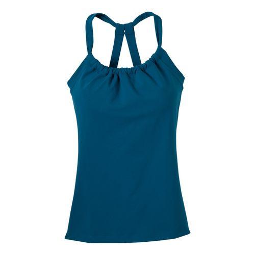 Womens Prana Quinn Chakara Sport Top Bras - Ink Blue M