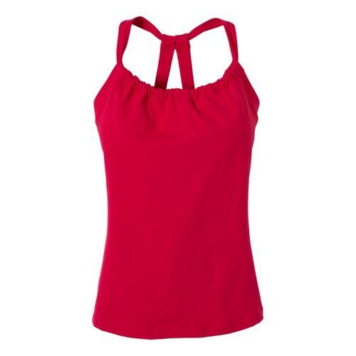 Womens Prana Quinn Chakara Sport Top Bras - Pink Berry M