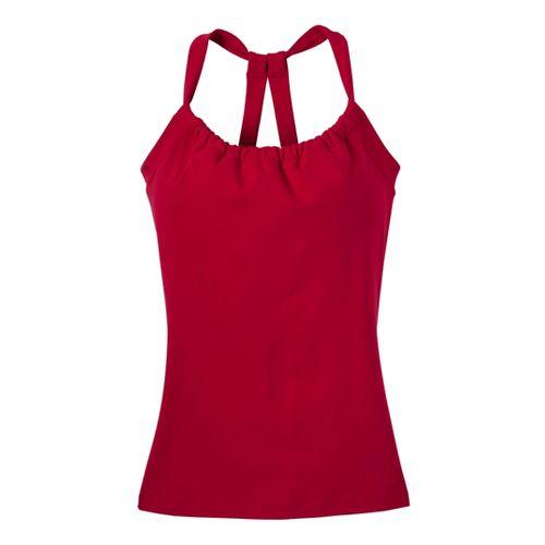 Womens Prana Quinn Chakara Sport Top Bras - Scarlet XS