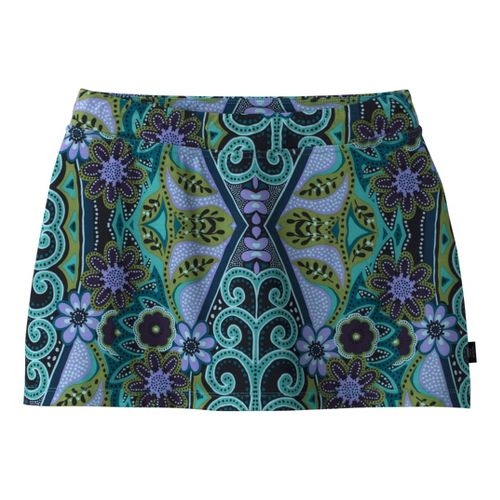 Womens Prana Sugar Printed Mini Skirt Skort Fitness Skirts - Clearwater M