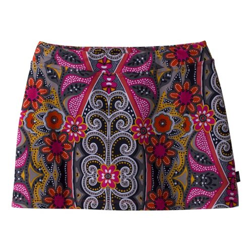 Womens Prana Sugar Printed Mini Skirt Skort Fitness Skirts - Coral L
