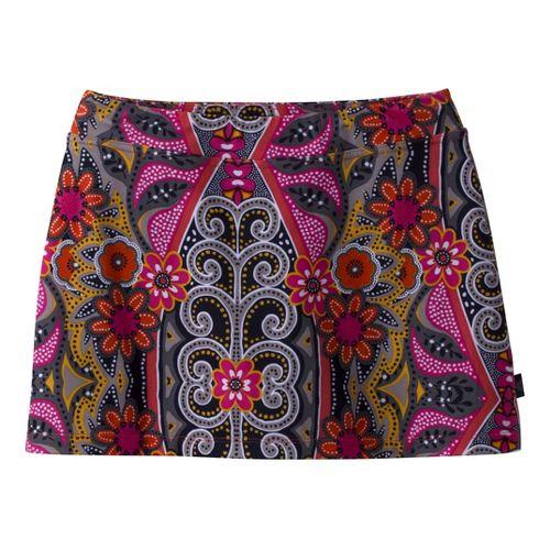 Womens Prana Sugar Printed Mini Skirt Skort Fitness Skirts - Coral S