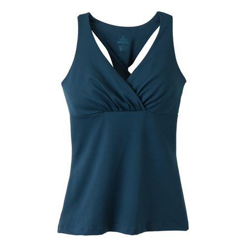 Womens Prana Kira Top Sport Top Bras - Deep Blue L