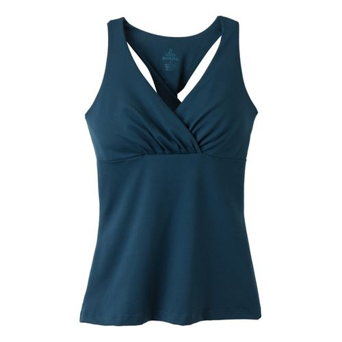 Womens Prana Kira Top Sport Top Bras - Deep Blue XL