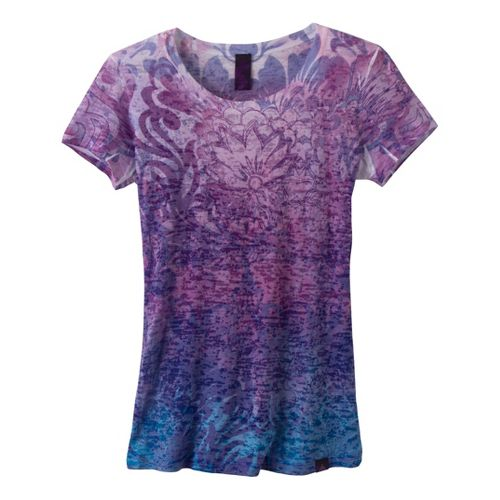 Womens Prana Lotus Top Short Sleeve Non-Technical Tops - Amythest XL