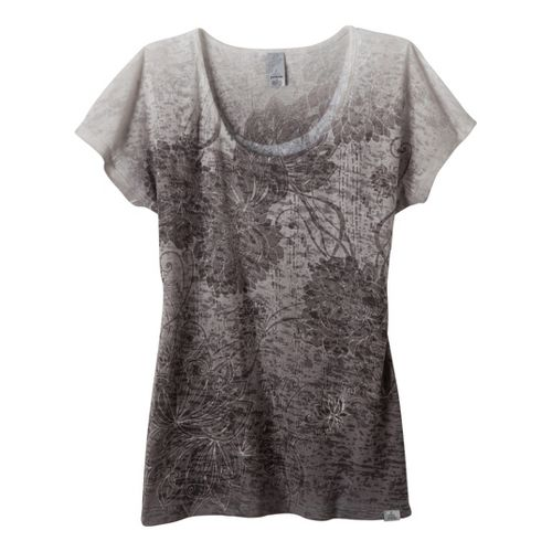 Womens Prana Lotus Top Short Sleeve Non-Technical Tops - Gravel S