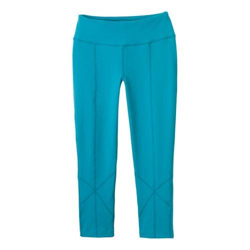 Womens Prana Prism Legging Capri Tights - Capri Blue L