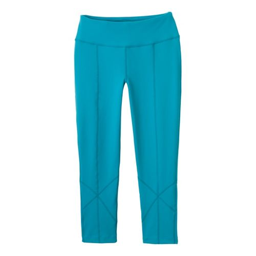 Womens Prana Prism Legging Capri Tights - Capri Blue S