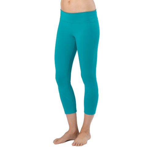 Womens Prana Prism Legging Capri Tights - Dragonfly M