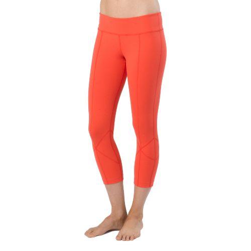 Womens Prana Prism Legging Capri Tights - Fire Red L
