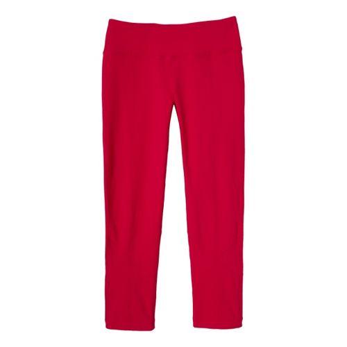 Womens Prana Prism Legging Capri Tights - Pink Berry L