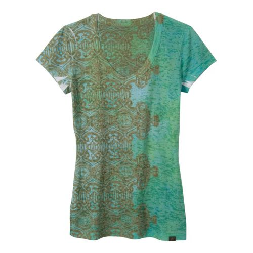 Womens Prana Bindi Tee Short Sleeve Non-Technical Tops - Clover XL