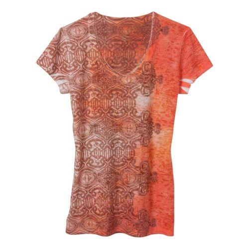 Womens Prana Bindi Tee Short Sleeve Non-Technical Tops - Melon XL