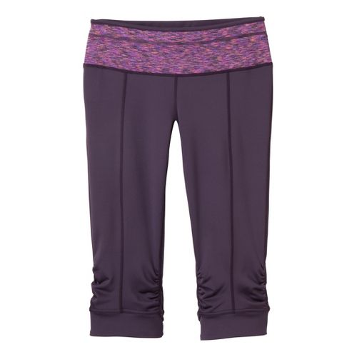 Womens Prana Alyson Knicker Capri Tights - Eggplant L