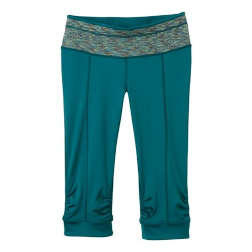 Womens Prana Alyson Knicker Capri Tights - Teal XL