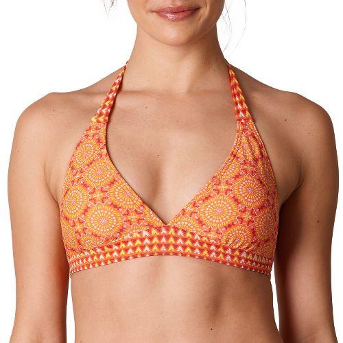 Womens Prana Lahari Halter Top Swimming Swim - Neon Orange Sundial XL