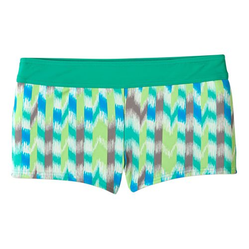 Womens Prana Raya Bottom Swimming Swim - Cool Green Ikat XS