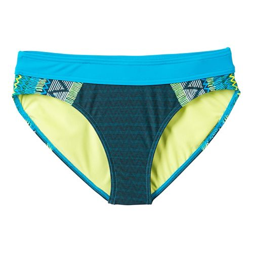 Womens Prana Ramba Bottom Swimming Swim - Vivid Blue Panama XS