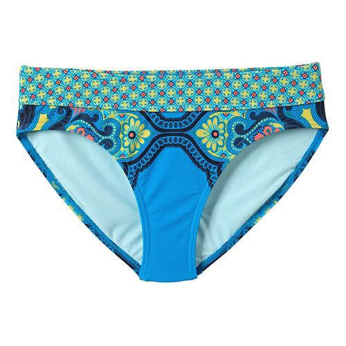 Womens Prana Ramba Bottom Swimming Swim - Vivid Blue Jasmine XS