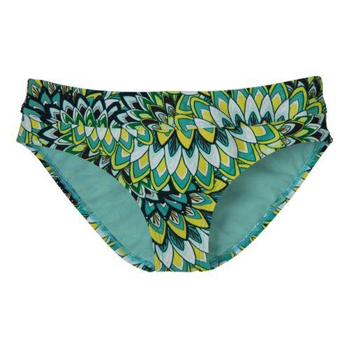 Womens Prana Ramba Bottom Swimming UniSuits - Turq Flora S