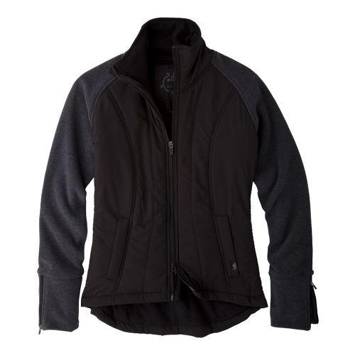 Womens Prana Audrina Warm-Up Unhooded Jackets - Black M