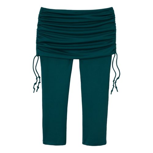 Womens Prana Cassidy Capri Tights - Deep Teal XL
