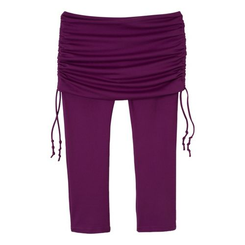 Womens Prana Cassidy Capri Tights - Red/Violet L